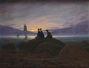 C. D. Friedrich: Mondaufgang am Meer